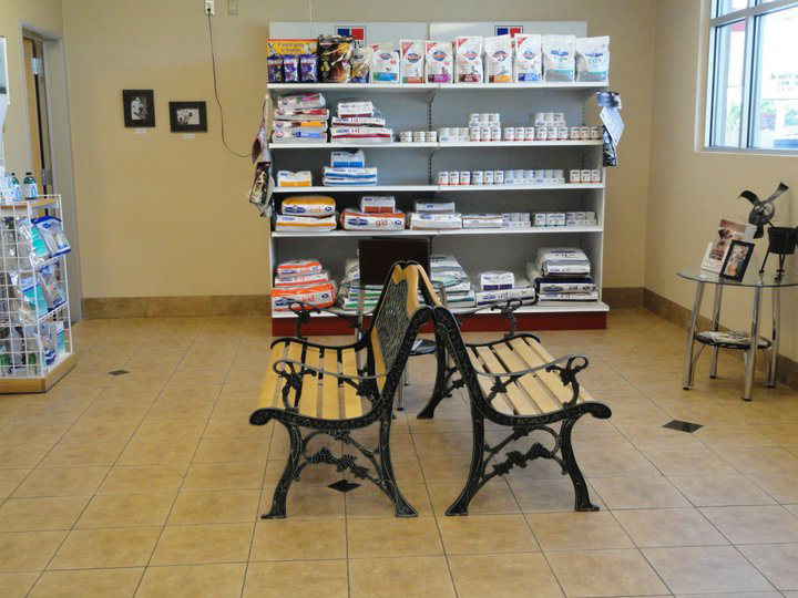 Northwest Animal Hospital Waiting Room and Retail Products